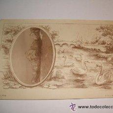 Postales: CADIZ POSTAL FOTOGRAFICA CON ORLA MODERNISTA ROCAS EN EL MAR REVERSO SIN DIVIDIR . Lote 34401458