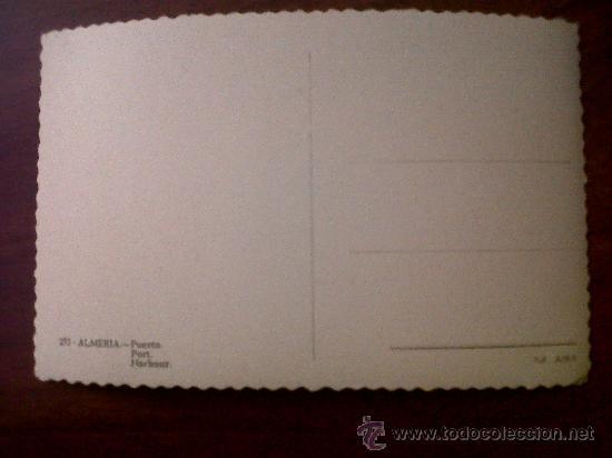 Postales: POSTAL ALMERIA PUERTO ED.AISA Nº 252-SIN CIRCULAR 9X14 - Foto 2 - 34603885