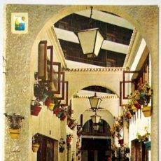 Postales: MALAGA. TORREMOLINOS. COSTA DEL SOL. LA NOGALERA. PASAJE TIPICO.. Lote 34860494