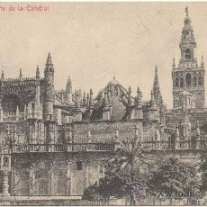 Postales: SEVILLA.- VISTA DE LA CATEDRAL.. Lote 34999563