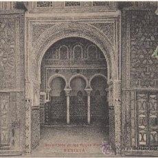 Postales: SEVILLA.- DORMITORIO DE LOS REYES MOROS. (1905).. Lote 35000410