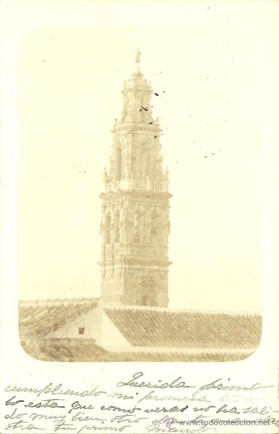 POSTAL FOTOGRAFICA ECIJA ( SEVILLA ) REVERSO SIN DIVIDIR (Postales - España - Andalucía Antigua (hasta 1939))