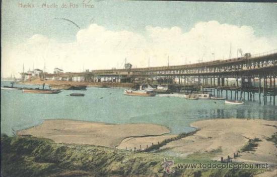 HUELVA.- MUELLE DE RIO TINTO (Postales - España - Andalucía Antigua (hasta 1939))