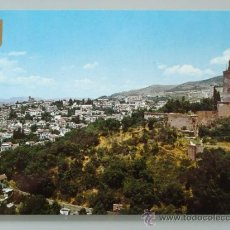 Postales: POSTAL DE GRANADA CAPITAL. AÑO 1966. ALBAICÍN Y TORRE DE LA VELA. 1300. . Lote 35365403