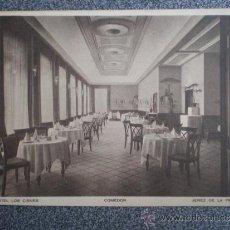 Postales: POSTAL ANTIGUA HOTEL LOS CISNES JEREZ DE LA FRONTERA CÁDIZ COMEDOR. Lote 35463811