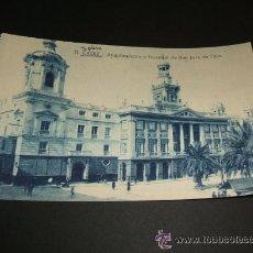 Postales: CADIZ AYUNTAMIENTO Y HOSPITAL DE SAN JUAN DE DIOS. Lote 35482319