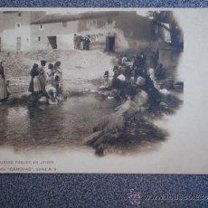 Postales: POSTAL ANTERIOR A 1905 LAVADERO PÚBLICO EN JAYENA COLECCIÓN CANOVAS. Lote 35584183
