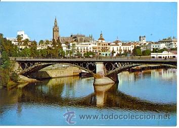 7-ESP1879. POSTAL SEVILLA. PUENTE ISABEL II (Postales - España - Andalucia Moderna (desde 1.940))
