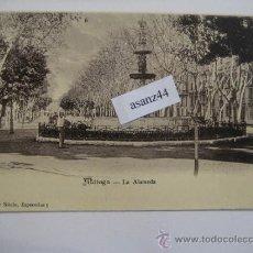 Postales: MÁLAGA.LA ALAMEDA. COLECCIÓN FIN DE SIÉCLE.. Lote 36148740