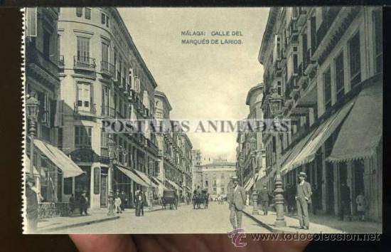 (A01666) MALAGA - CALLE DEL MARQUES DE LARIOS - HAUSER Y MENET (Postales - España - Andalucía Antigua (hasta 1939))