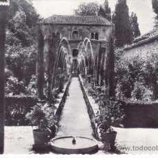Postales: GRANADA - GENERALIFE - PATIO DE ACEQUIA. Lote 35807300