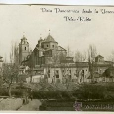 Postales: ALMERÍA. VÉLEZ RUBIO. PANORÁMICA DESDE LA YESERA. HACIA 1915. Lote 35819636