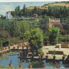 Postales: POSTAL DE GRANADA. ALHAMBRA. JARDINES DEL PORTAL Y GENERALIFE Nº 59 P-ANGRA-071. Lote 35852779