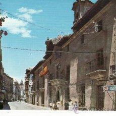 Postales: JAEN - ALCALA LA REAL - PALACIO ABACIAL Y CARRERA DE LAS MERCEDES - ANUNCIO COCA COLA. Lote 36024138