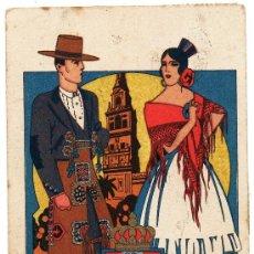 Postales: CORDOBA, TIPOS Y ESCUDO, CIRCULADA CON CENSURA. Lote 36042218
