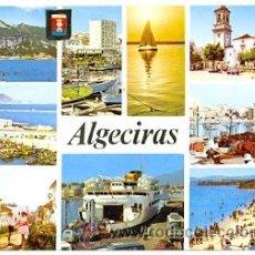 Postales: 7-ESP1745. POSTAL CADIZ. ALGECIRAS. VARIAS VISTAS. Lote 36110229