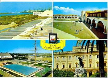 7-ESP1756. POSTAL CADIZ. SAN FERNANDO. VARIAS VISTAS (Postales - España - Andalucia Moderna (desde 1.940))
