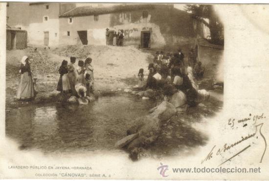 GRANADA – LAVADERO PUBLICO EN JAYENA - ED CÁNOVAS A8 (Postales - España - Andalucía Antigua (hasta 1939))