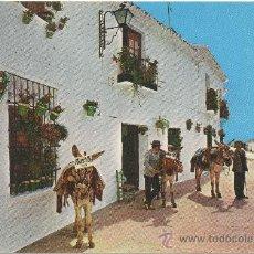 Postales: MIJAS (COSTA DEL SOL).- RINCÓN TÍPICO Y BURROS TAXI.. Lote 36190585