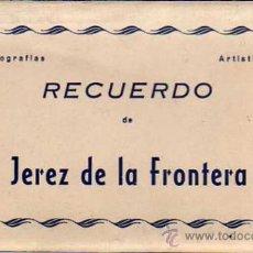 Postales: JÉREZ DE LA FRONTERA - ACORDEÓN DE 10 POSTALES - ED. PAPELERA JEREZANA. Lote 36363423