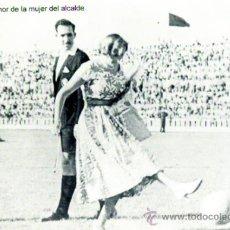 Postales: POSTAL CON FOTO ANTIGUA DEL SAQUE DE HONOR DEL RECRE (MUJER DEL ALCALDE). Lote 36803346