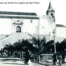 Postales: POSTAL CON FOTO DE LA ANTIGUA IGLESIA DE SAN PEDRO (HUELVA). Lote 36959077