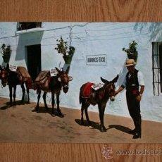 Postales: COSTA DEL SOL. MIJAS. PARADA DE BURROS-TAXI.. Lote 36593923