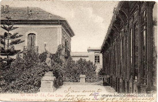 RIO TINTO, CO LD. CASA COLON, EDIT.PAPELERIA INGLESA (Postales - España - Andalucía Antigua (hasta 1939))
