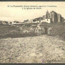 Postales: HUELVA - LA FONTANILLA DONDE HICIERON AGUA LAS CARABELAS Y LA IGLESIA DE PALOS -. Lote 36567348