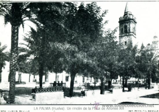 Postal con foto antigua de la plaza en la palma comprar - Fotos antiguas de rociana del condado ...