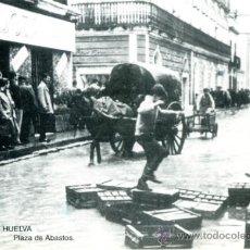 Postales: POSTAL CON FOTO DE ANTIGUA PLAZA DE ABASTOS DE HUELVA. Lote 36638147