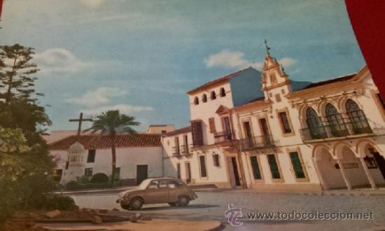 POSTAL DOS HERMANAS SEVILLA - AYUNTAMIENTO Y CRUZ CAÍDOS - PAPELERIA SANTA MARINA (Postales - España - Andalucia Moderna (desde 1.940))