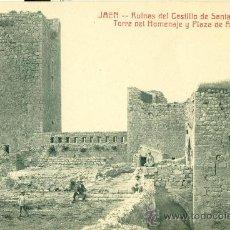 Postkarten - JAÉN. RUINAS DEL CASTILLO SANTA CATALINA. TORRE DEL HOMENAJE Y PLAZA DE ARMAS. HACIA 1920. - 36739184