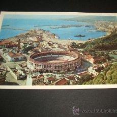 Postales: MALAGA VISTA PARCIAL Y PLAZA DE TOROS 1957. Lote 37016747