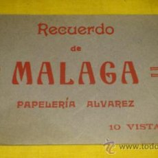 Postales: RECUERDO MALAGA, ROISIN, PAPELERIA ALVAREZ, LARIOS, CALETA, AYUNTAMIENTO, PARQUE, LIMONA,PUERTO,. Lote 37087284