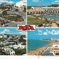 Postales: ,POSTAL EDICIONES GALLEGO 9712, ROTA (CADIZ) VISTAS, CIRCULADA. Lote 37277089