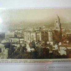 Postales: 543.-MALAGA CATEDRAL Y VISTA PARCIAL EXCLUSIVAS ALAMOS . Lote 37275960