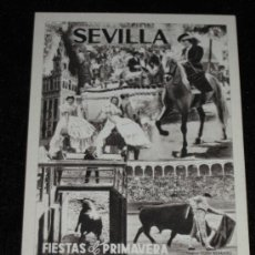 Postales: POSTAL PUBLICITARIA DE Q R A - JOSE GALLARDO - CARTEL FERIA ABRIL - SERRANO - SEVILLA . Lote 37303115