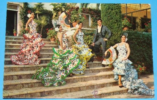 POSTAL DE CÁDIZ. AÑO 1965. FLAMENCO ALEGRÍAS DEL PUERTO DE PACO DE LUCIO FIESTA BALLET. 806 (Postales - España - Andalucia Moderna (desde 1.940))