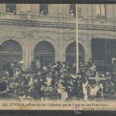 Postales: SEVILLA - 500 - PASO DE LAS COFRADIAS POR LA PLAZA DE SAN FRANCISCO - MANUEL BARREIRO - (15.896). Lote 37337173