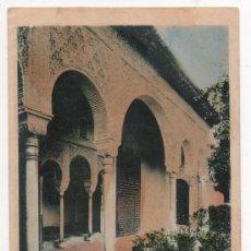 Postales: GRANADA,GENERALIFE , GALERIA EXTERIOR,COLOREADA,ABELARDO LINARES,RARISIMA. Lote 37408676