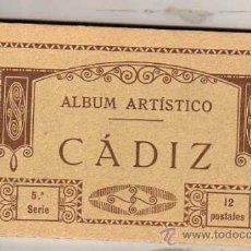 Postales: ALBUM ARTÍSTICO BLOCK CÁDIZ. 5ª SERIE. 12 POSTALES. THOMAS BARCELONA.. Lote 37437824