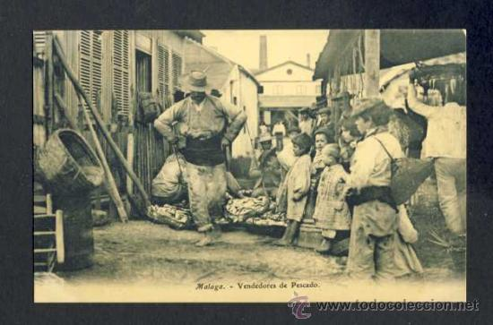 POSTAL DE MALAGA: VENDEDORES DE PESCADO (ED. EJG) (Postales - España - Andalucía Antigua (hasta 1939))