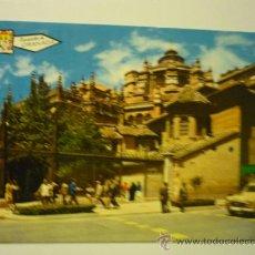 Cartes Postales: POSTAL GRANADA -CALLE OFICIOS Y ENTRADA CATEDRAL. Lote 38349668