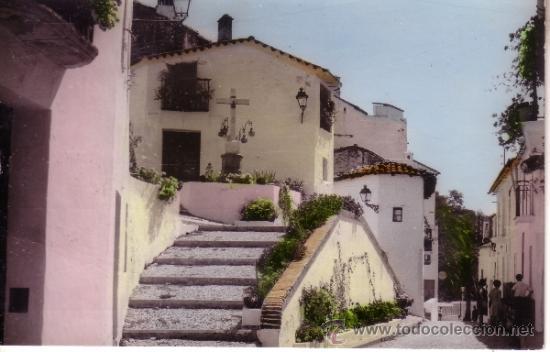 RARA POSTAL FOTOGRAFICA DE GALAROZA - HUELVA - CRUZ DE LOS PIZARRILLOS (Postales - España - Andalucia Moderna (desde 1.940))