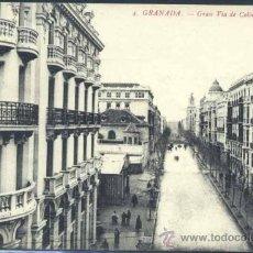 Postales: GRANADA.- GRAN VÍA DE COLÓN. Lote 38608376
