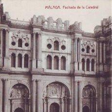 Postales: MALAGA. FACHADA DE LA CATEDRAL.. Lote 38770054