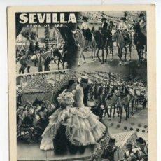 Postales: SEVILLA. FERIA DE ABRIL. FOTOMONTAJE ORIGINAL FOTO SERRANO. FOURNIER. Lote 38909276