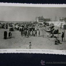 Postales: POSTAL FOTOGRÁFICA 221 CÁDIZ PLAYA DE LA VICTORIA CIRCULADA 1951 ED. AISA. Lote 38989543