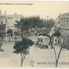 Postales: CADIZ SAN FERNANDO AVENIDA DE BERANGER. FOTOTIPIA HAUSER Y MENET ED. GUILERMO UHL. . Lote 39046070
